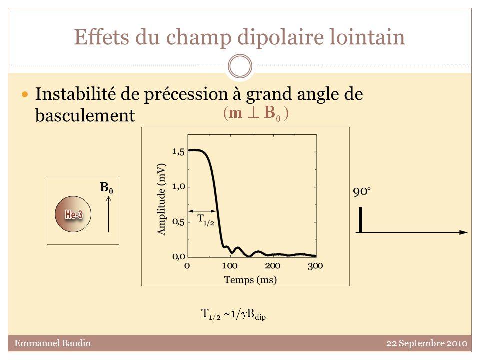 Effets du champ dipolaire lointain