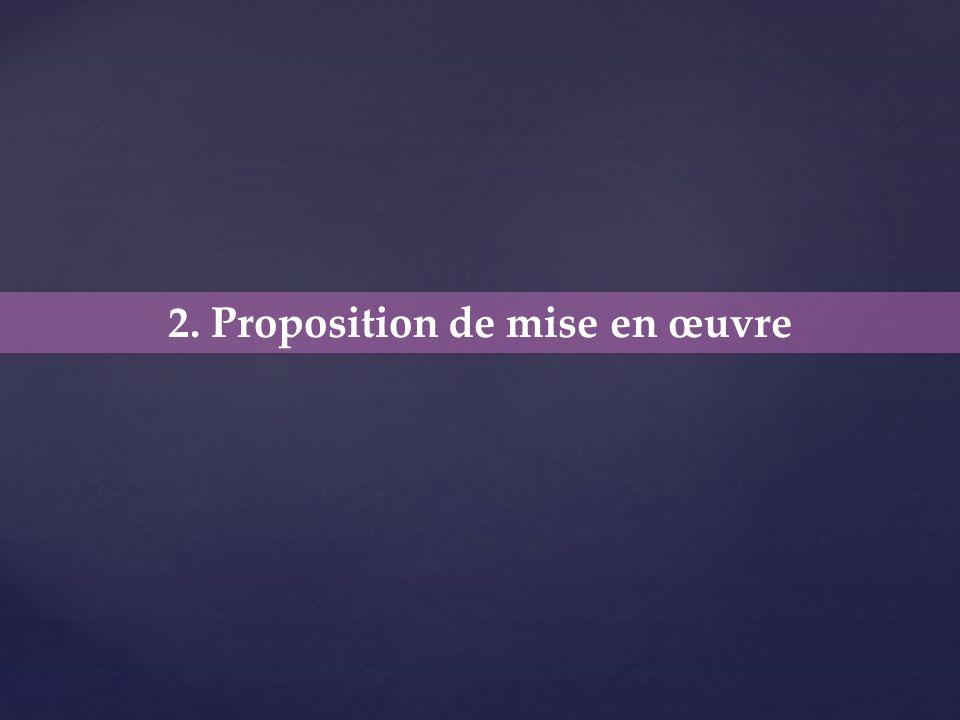 2. Proposition de mise en œuvre