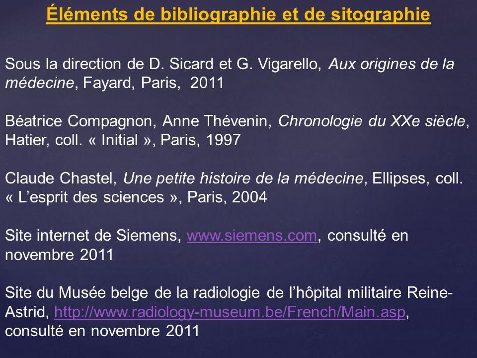 Éléments de bibliographie et de sitographie