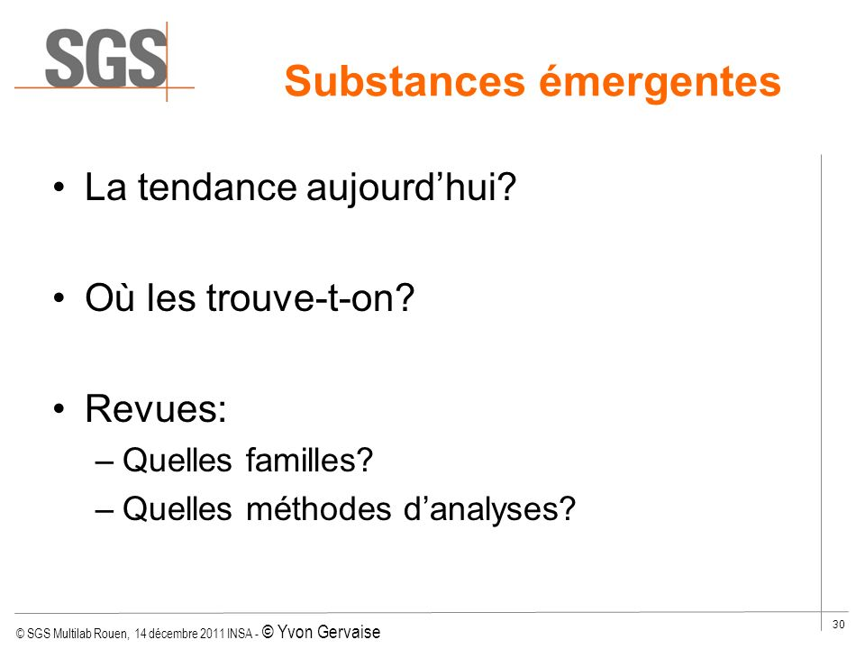 Substances émergentes