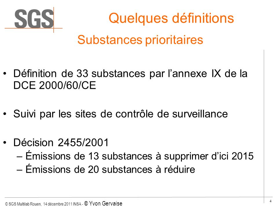 Substances prioritaires