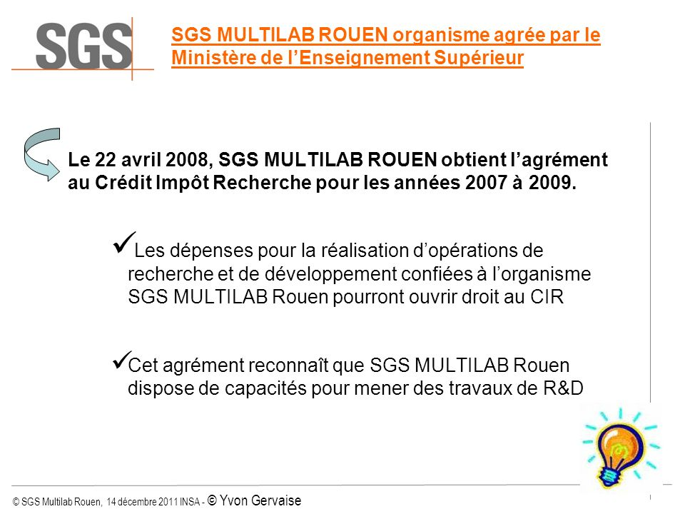 Conference sgs multilab rouen ppt t l charger for Cir rouen
