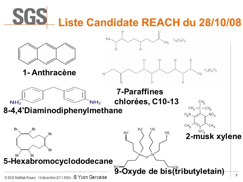 Liste Candidate REACH du 28/10/08