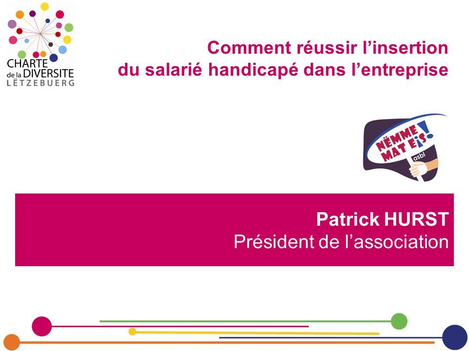 Patrick HURST Président de l'association