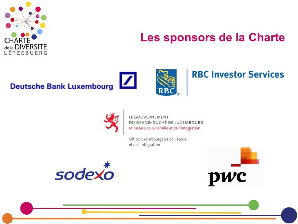 Les sponsors de la Charte