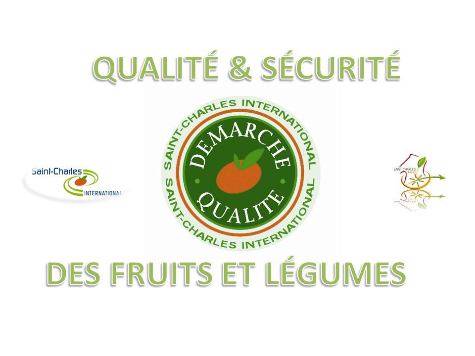 QUALITÉ & SÉCURITÉ DES FRUITS ET LÉGUMES