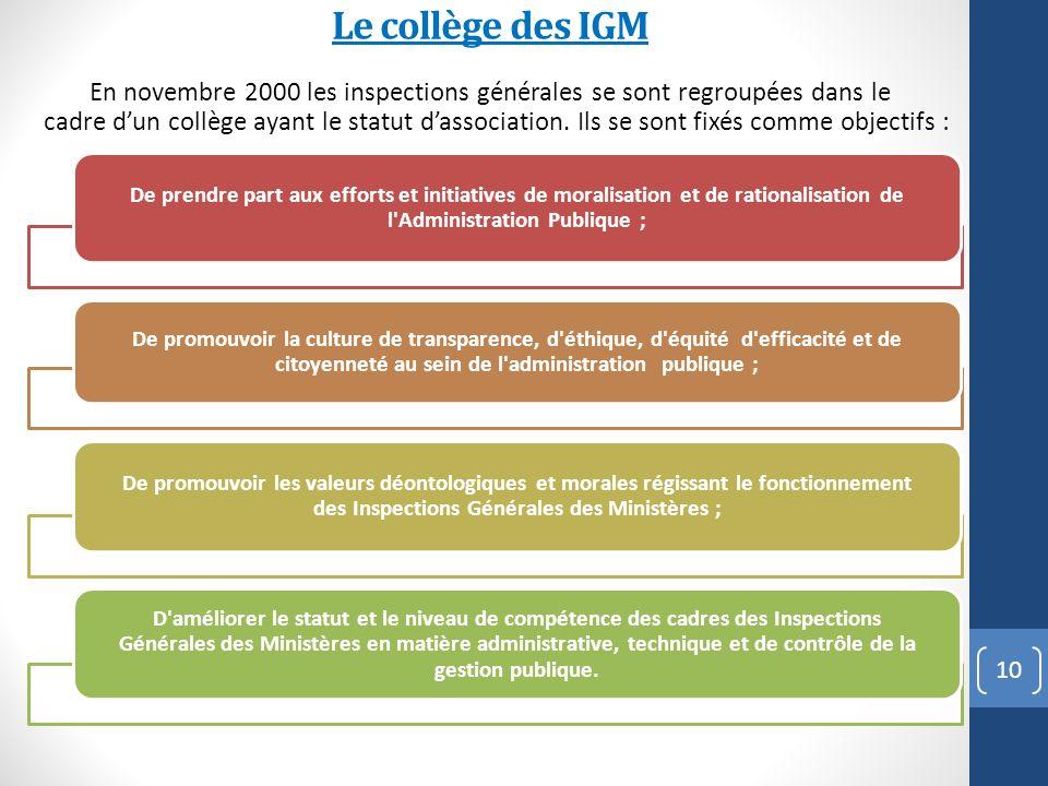 Le collège des IGM