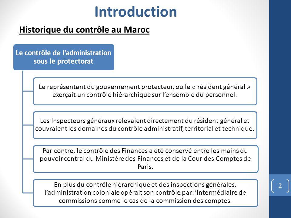 Le contrôle de l'administration sous le protectorat