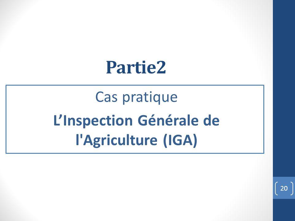 Cas pratique L'Inspection Générale de l Agriculture (IGA)