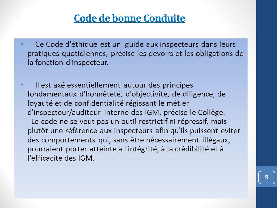 Code de bonne Conduite