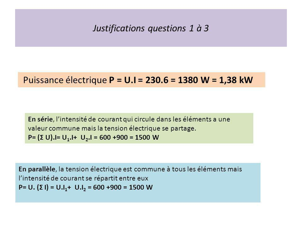 Justifications questions 1 à 3