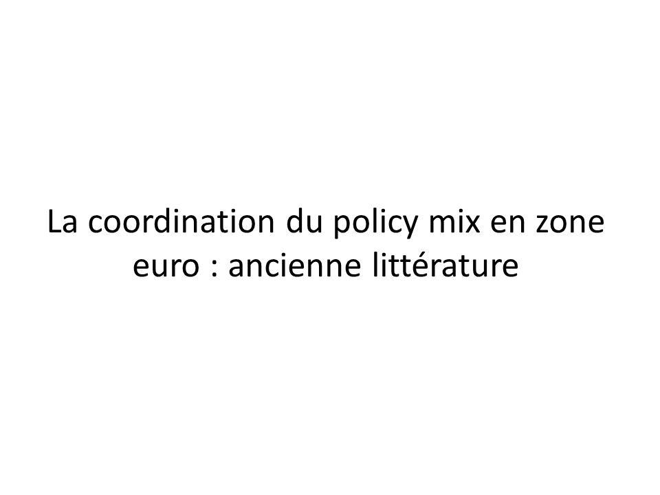La coordination du policy mix en zone euro : ancienne littérature