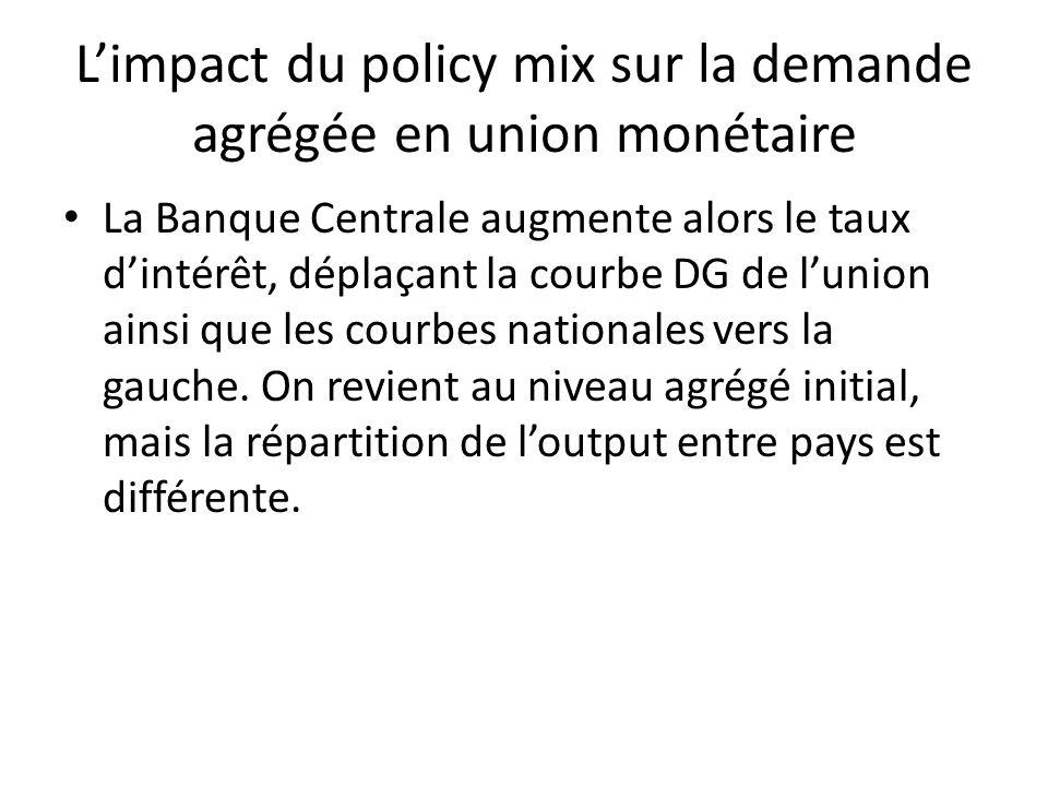 L'impact du policy mix sur la demande agrégée en union monétaire