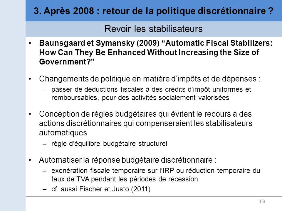3. Après 2008 : retour de la politique discrétionnaire