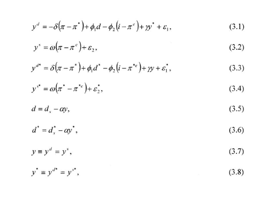 Les variables sont définies en pourcentage par rapport à leur valeur de long-terme