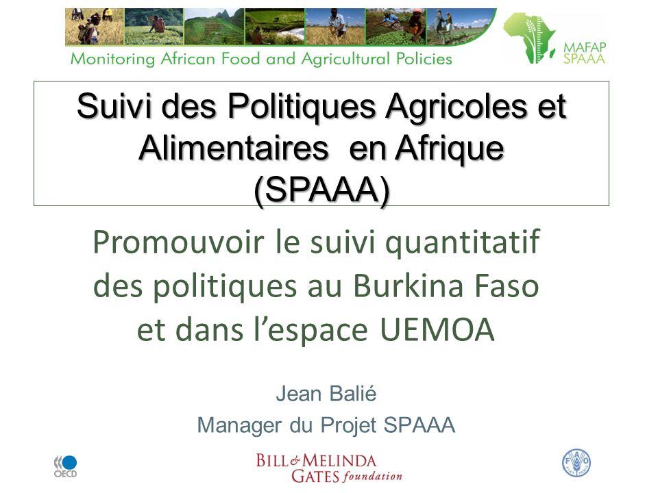 Suivi des Politiques Agricoles et Alimentaires en Afrique (SPAAA)