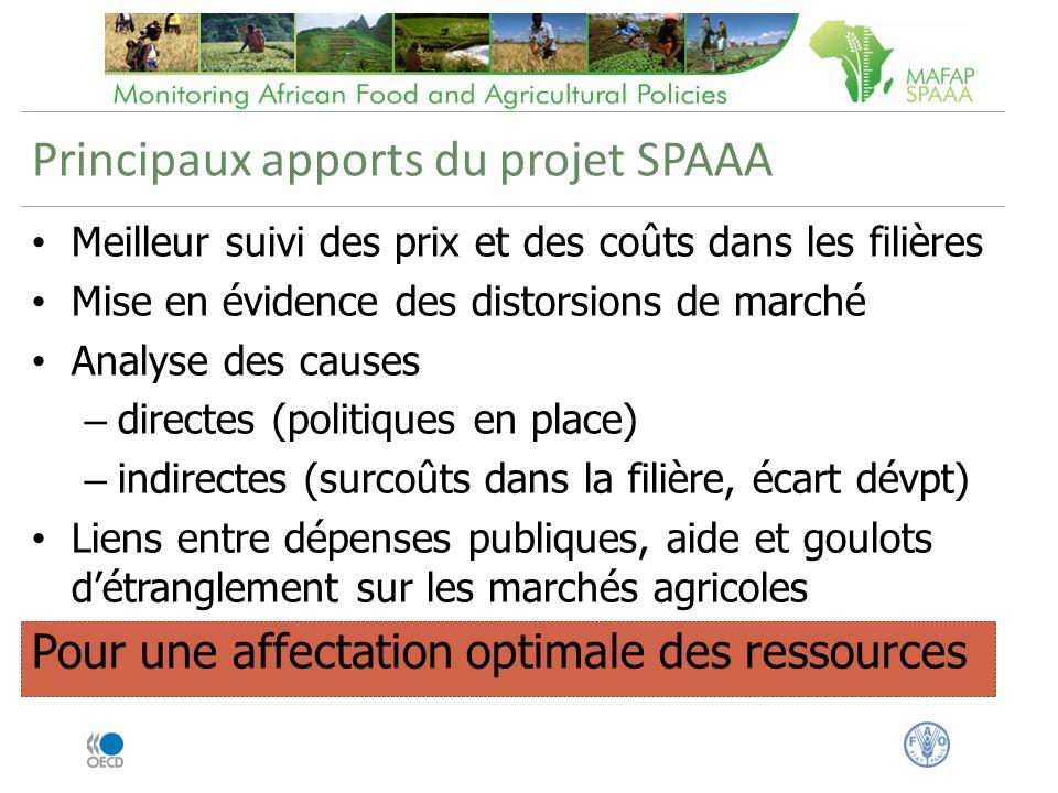 Principaux apports du projet SPAAA