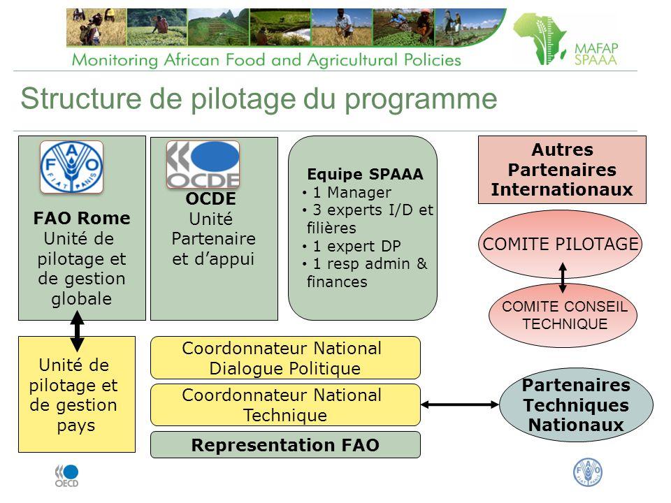 Structure de pilotage du programme
