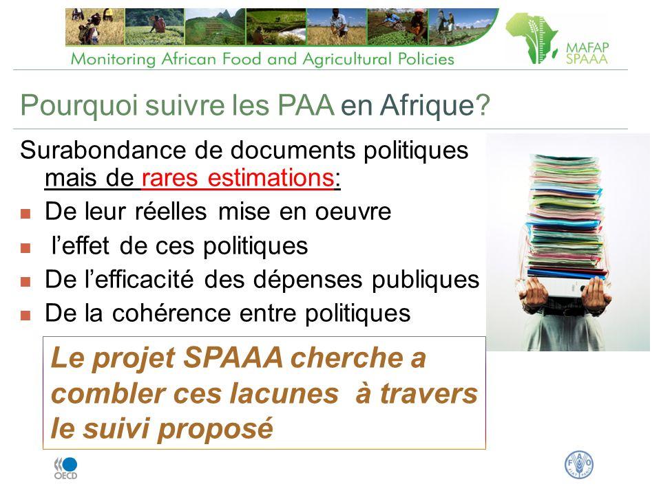 Pourquoi suivre les PAA en Afrique