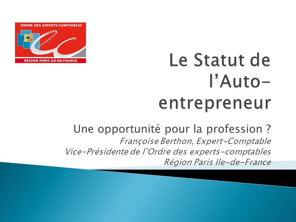 Le Statut de l'Auto-entrepreneur