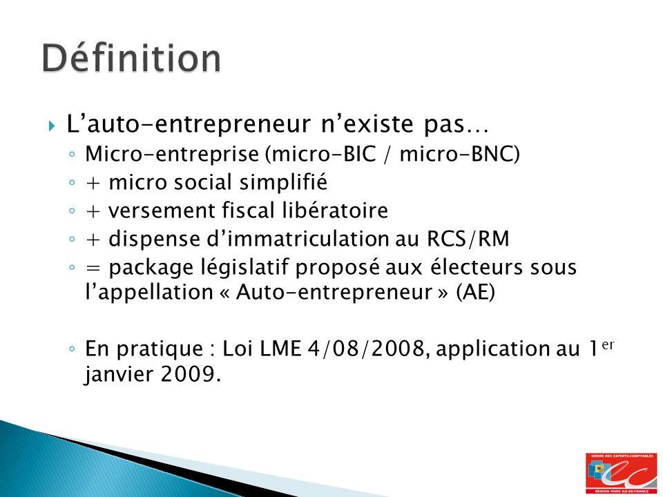 Définition L'auto-entrepreneur n'existe pas…