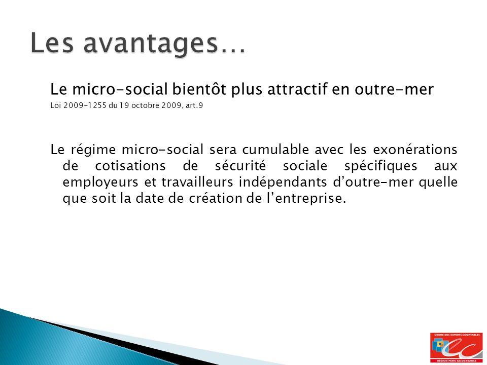 Les avantages… Le micro-social bientôt plus attractif en outre-mer