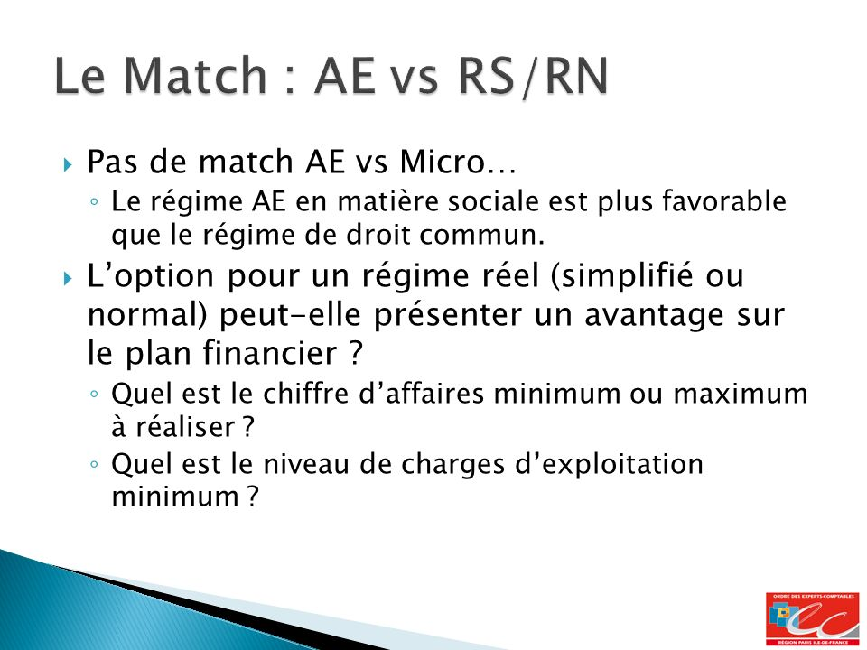 Le Match : AE vs RS/RN Pas de match AE vs Micro…