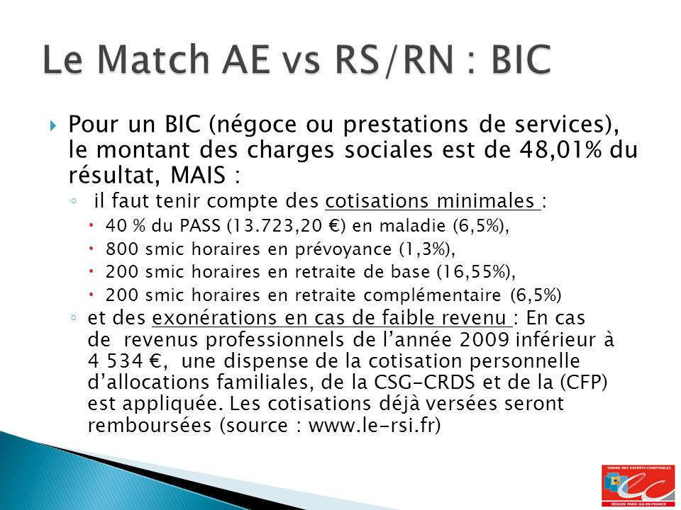 Le Match AE vs RS/RN : BIC