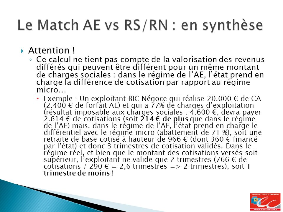 Le Match AE vs RS/RN : en synthèse