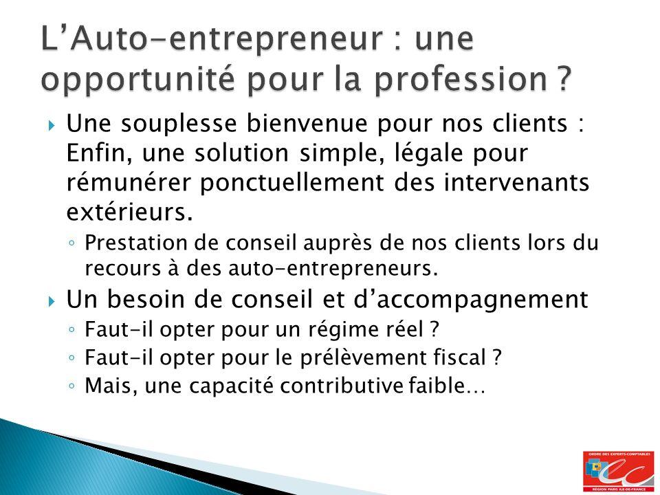L'Auto-entrepreneur : une opportunité pour la profession