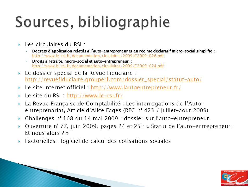 Sources, bibliographie