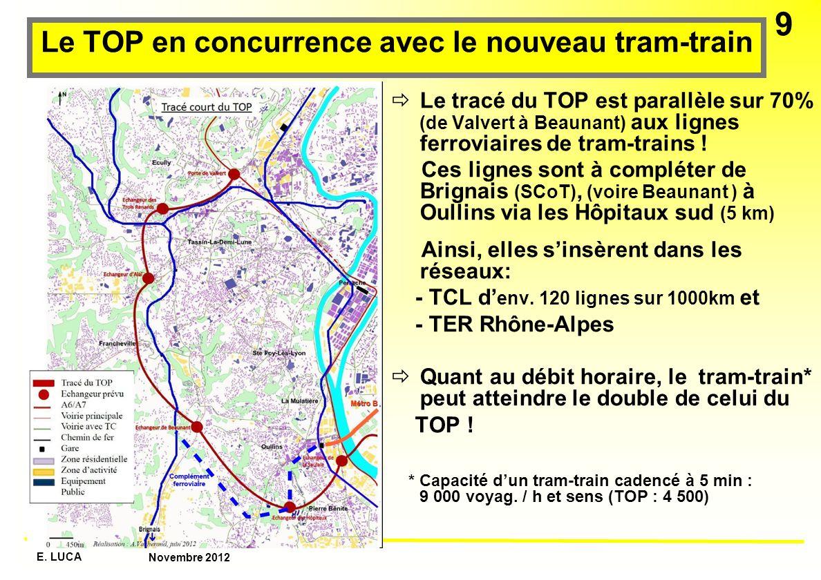 Le TOP en concurrence avec le nouveau tram-train