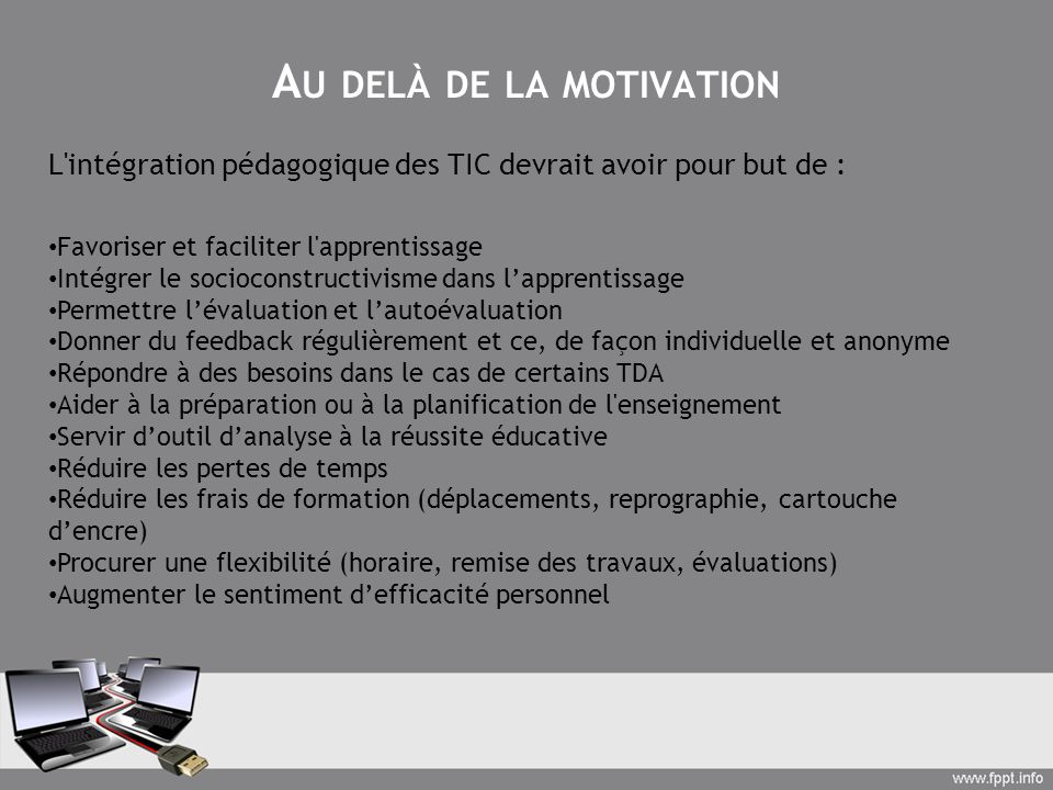 Au delà de la motivation