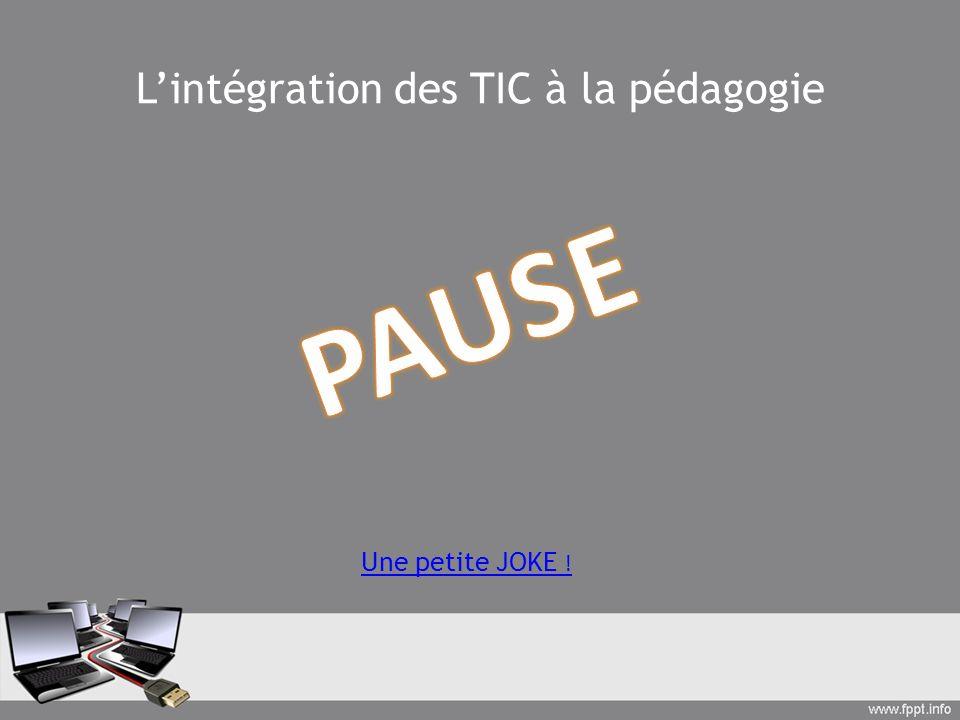 L'intégration des TIC à la pédagogie