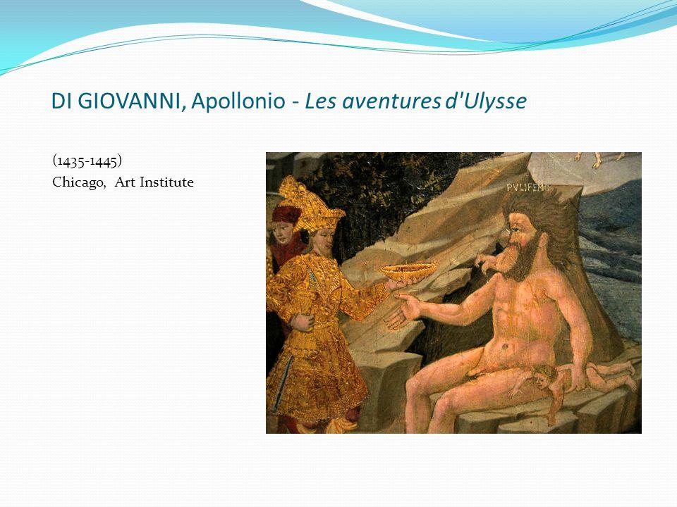 DI GIOVANNI, Apollonio - Les aventures d Ulysse