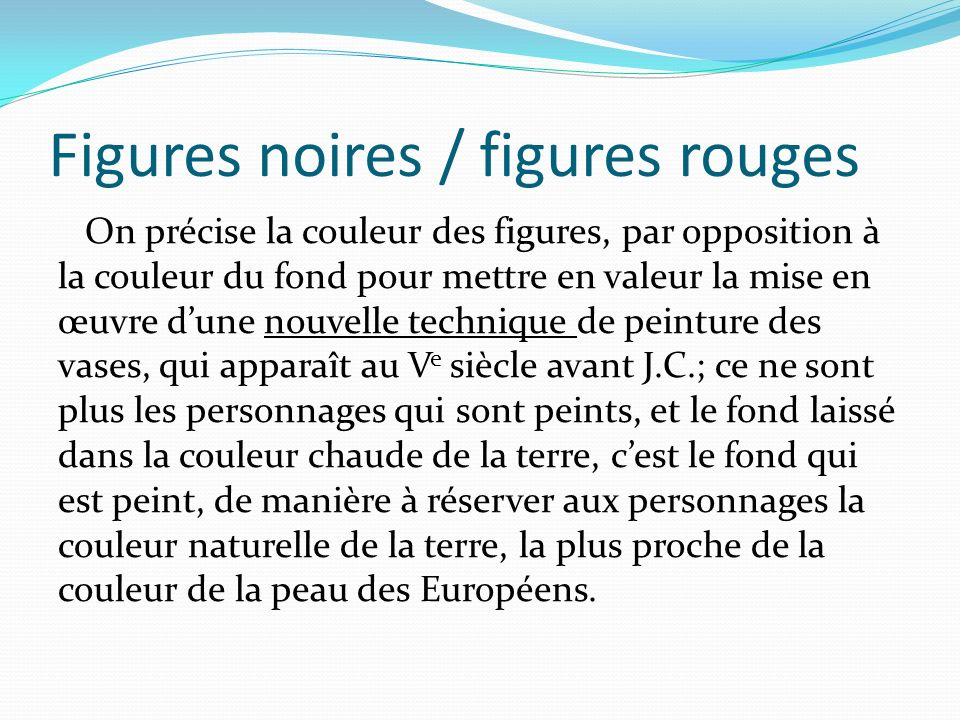 Figures noires / figures rouges
