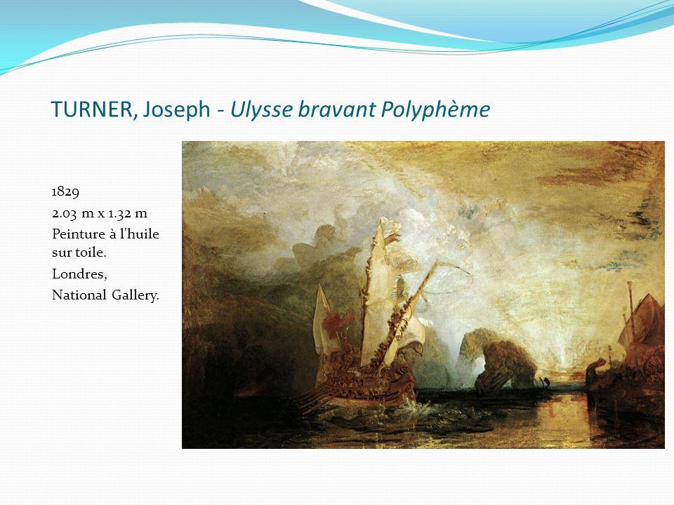TURNER, Joseph - Ulysse bravant Polyphème