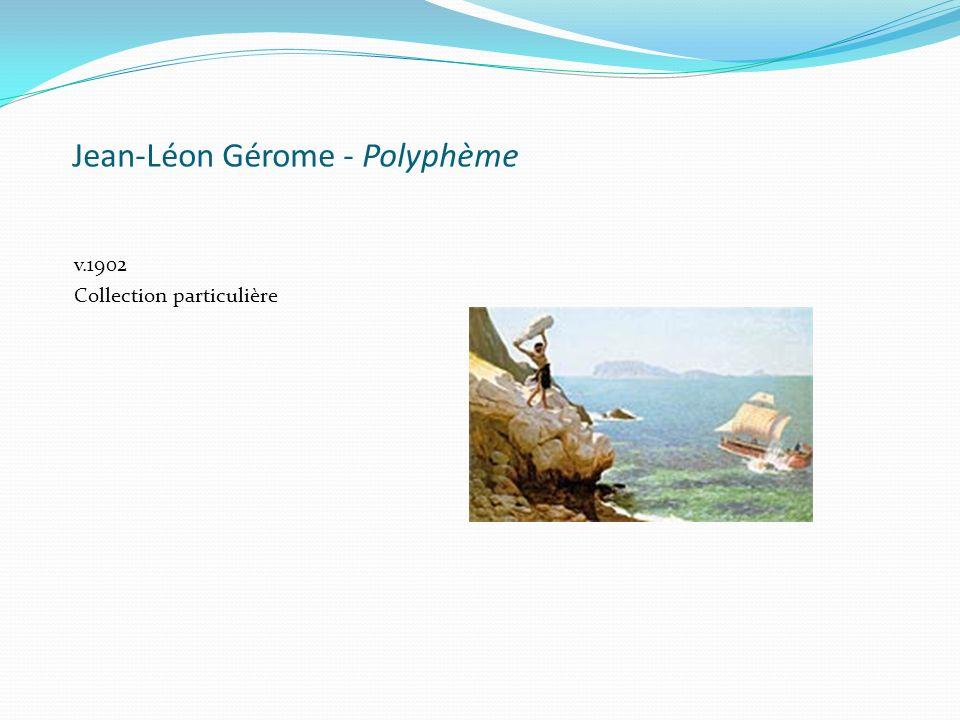 La rencontre d'ulysse et de polypheme