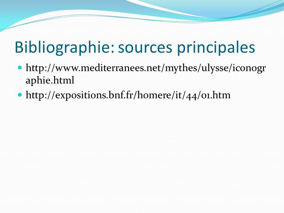 Bibliographie: sources principales