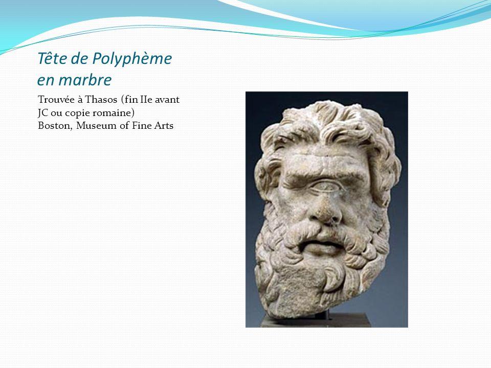 Tête de Polyphème en marbre