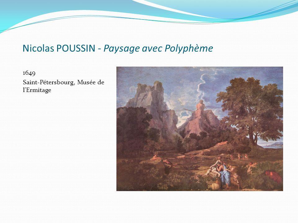 Nicolas POUSSIN - Paysage avec Polyphème