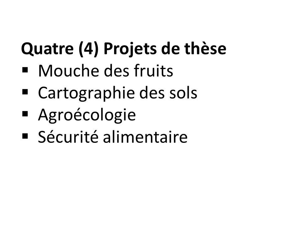 Quatre (4) Projets de thèse