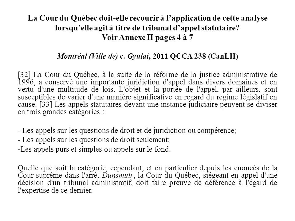 Montréal (Ville de) c. Gyulai, 2011 QCCA 238 (CanLII)