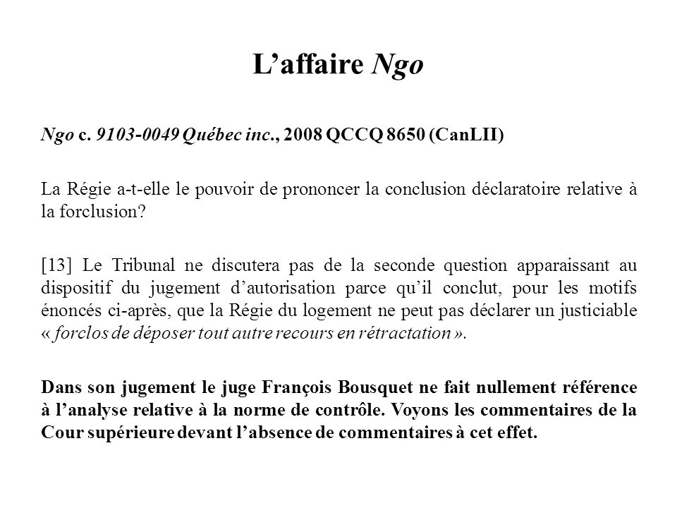L'affaire Ngo