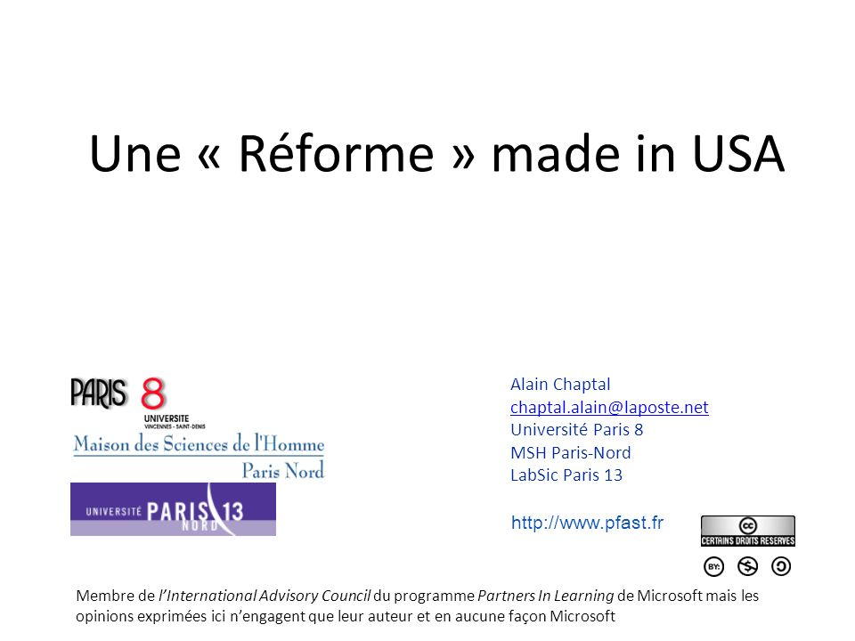 Une « Réforme » made in USA