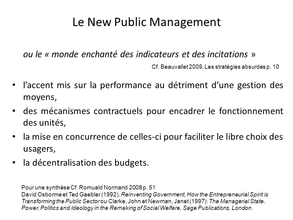 Le New Public Management