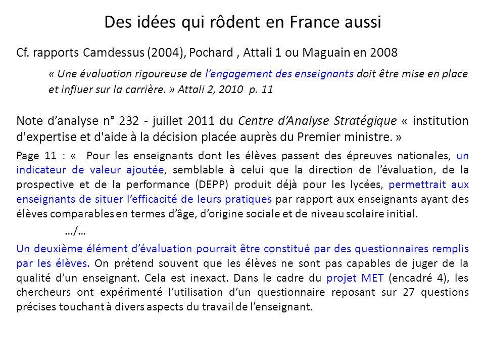 Des idées qui rôdent en France aussi