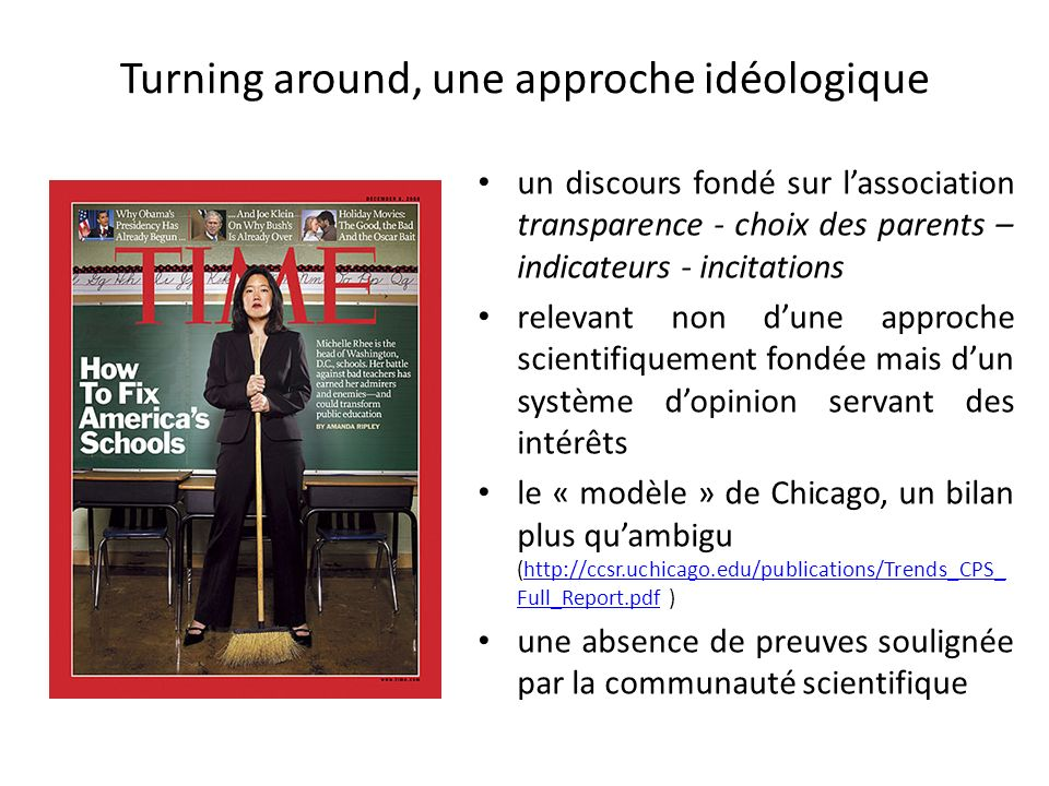 Turning around, une approche idéologique