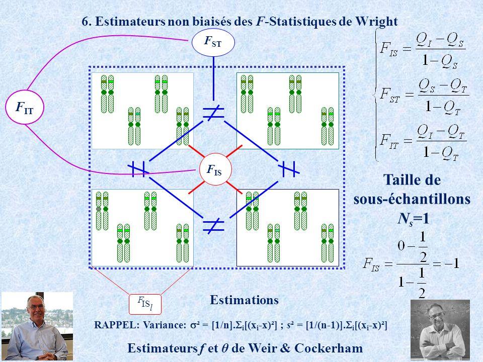 6. Estimateurs non biaisés des F-Statistiques de Wright