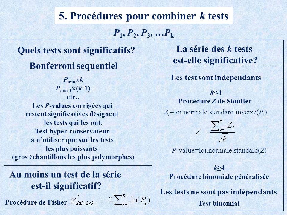 5. Procédures pour combiner k tests
